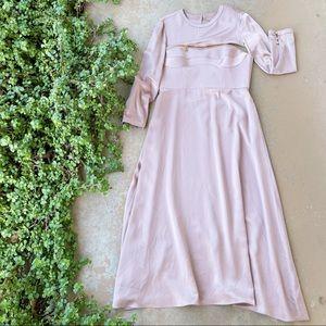 Brandon Maxwell Convertible Silk Bustier Dress
